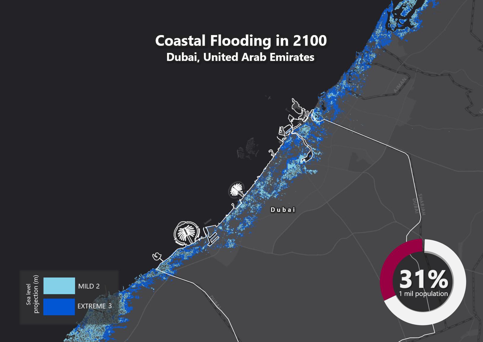 Sea Level Rise by 2100 – Dubai