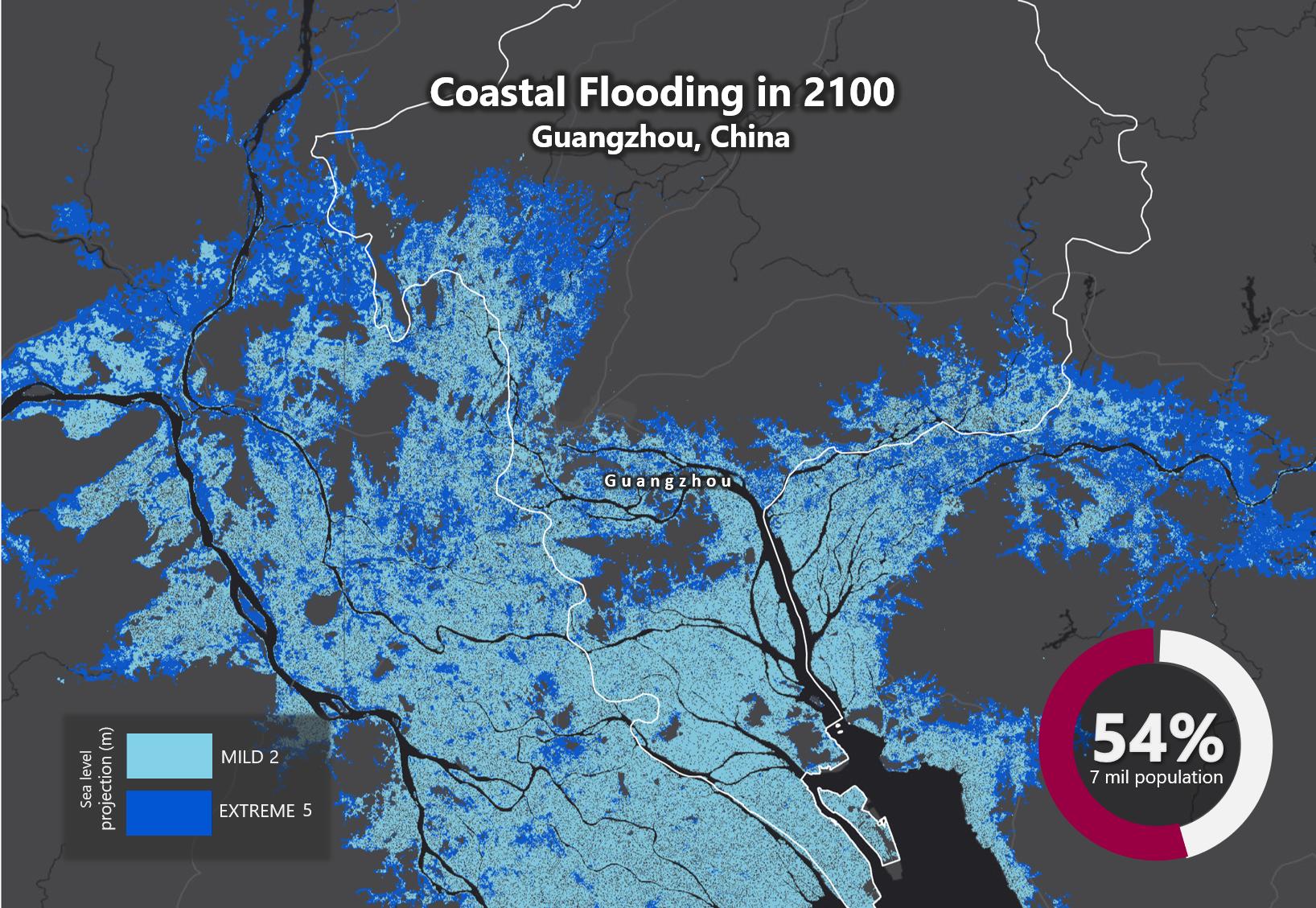 Sea Level Rise 2100 Guangzhou