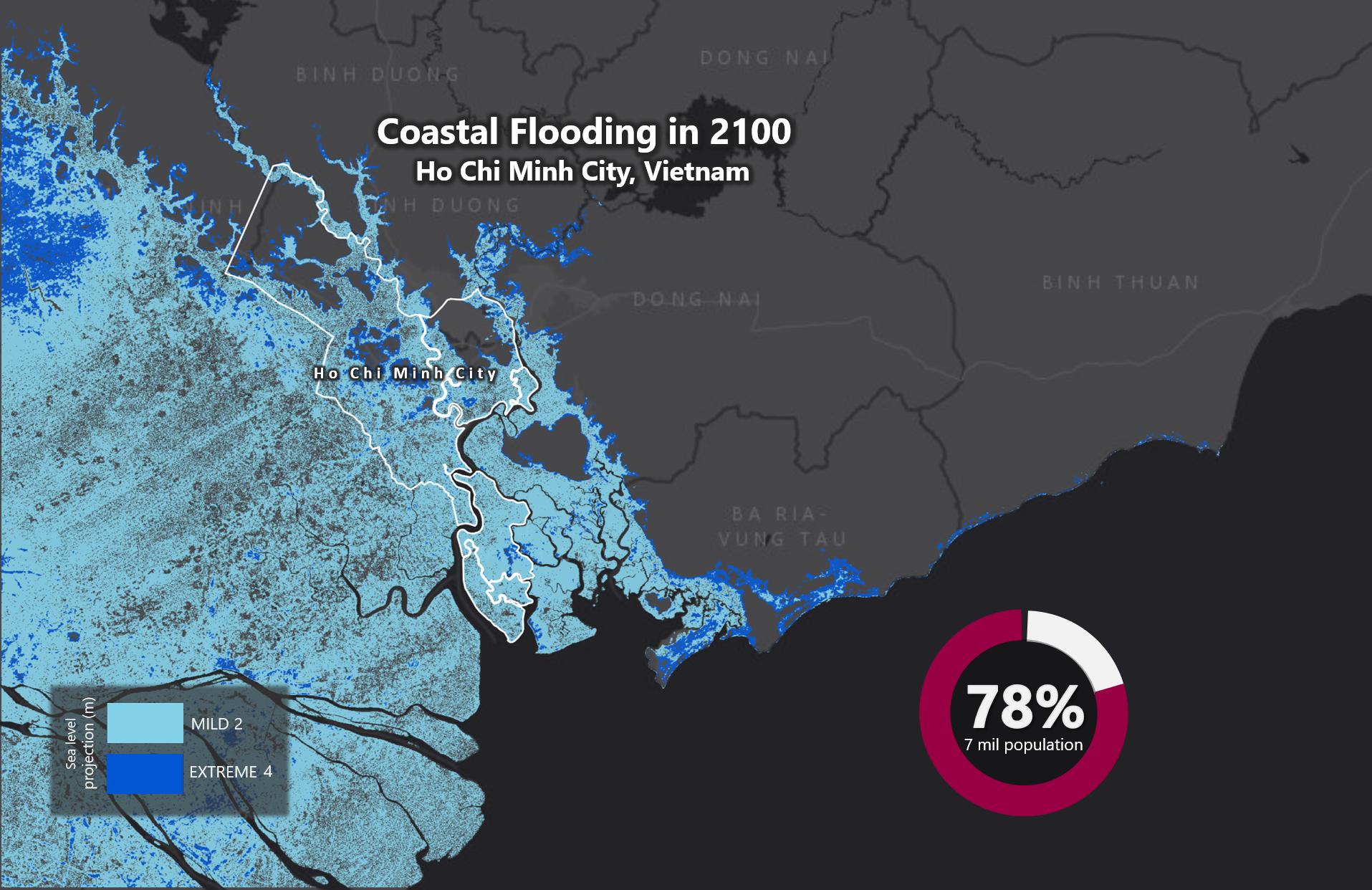 Sea Level Rise 2100 – Ho Chi Minh