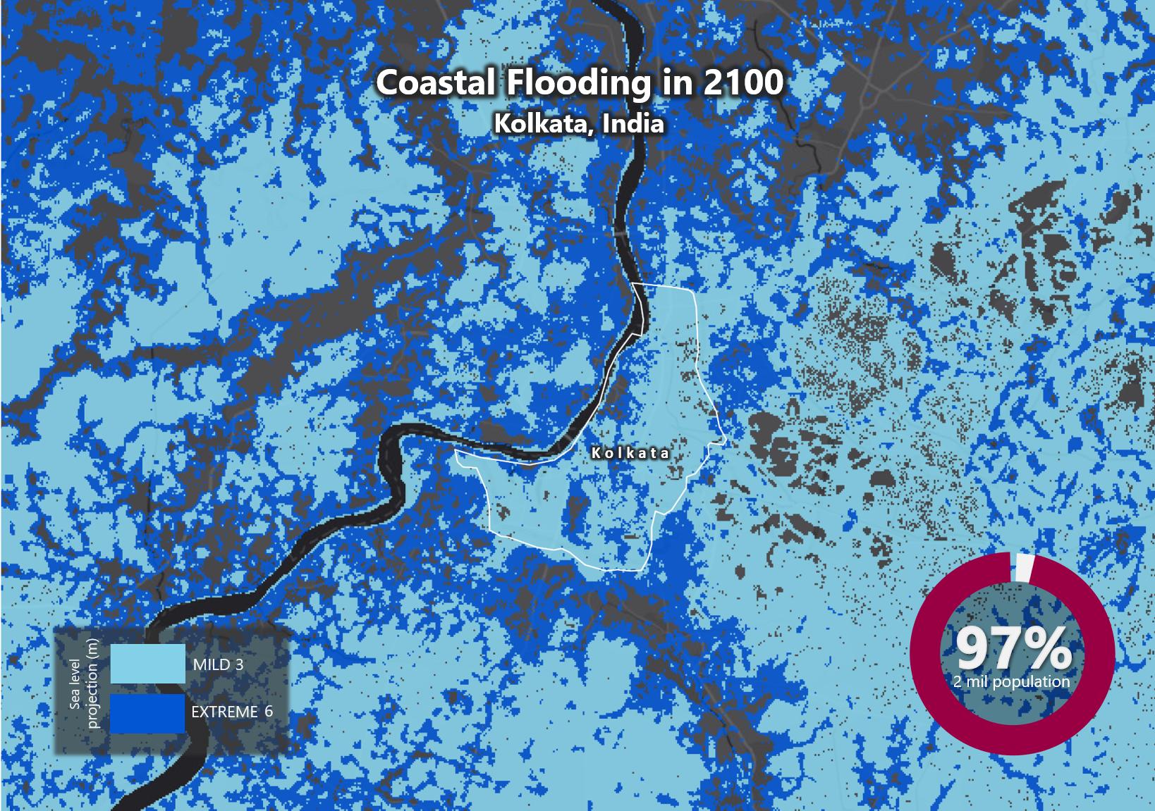 Sea Level Rise by 2100 – Kolkata