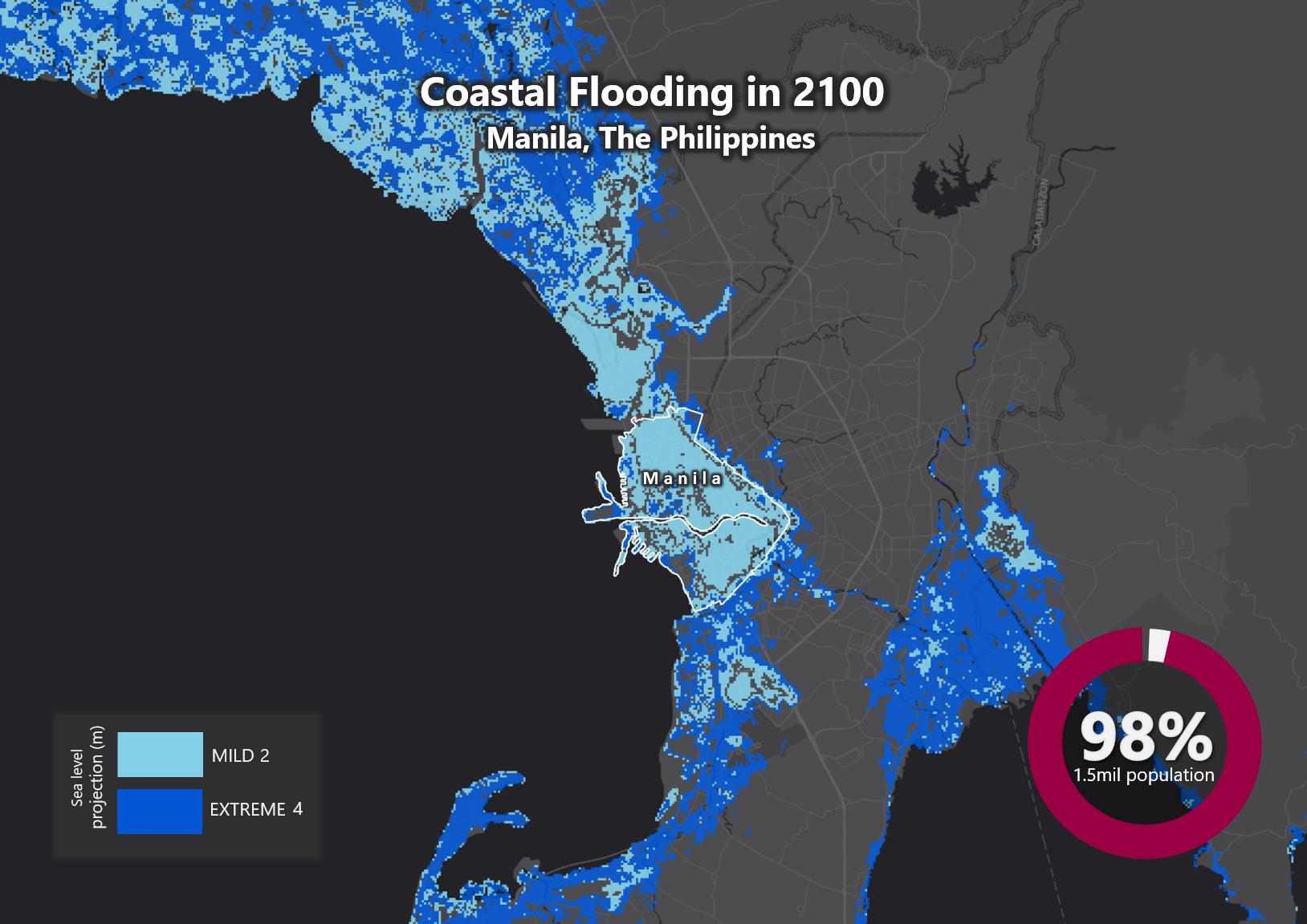 Sea Level Rise by 2100 – Manila