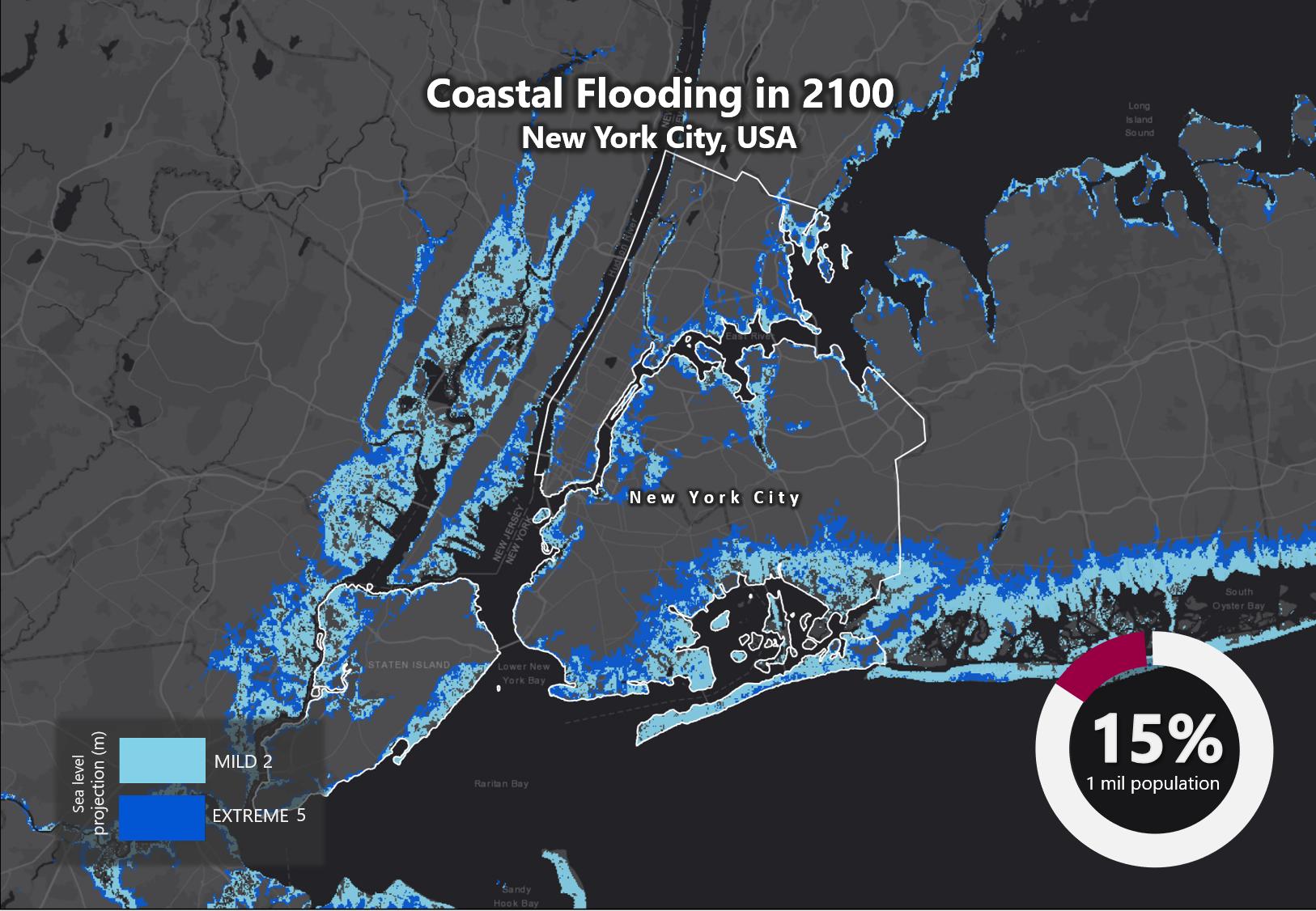 Sea Level Rise 2100 New York City