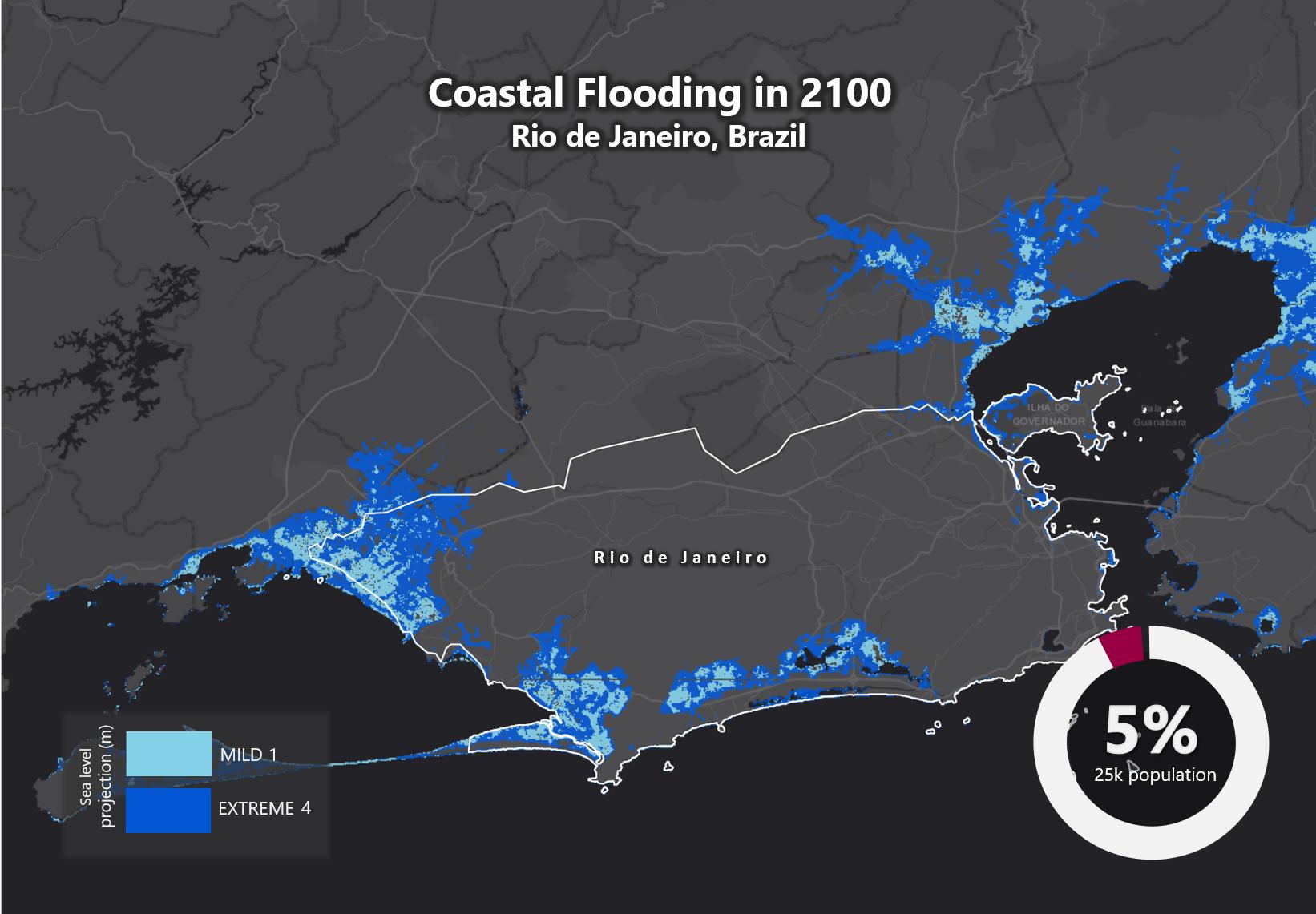 Sea Level RIse 2100 Rio de Janeiro