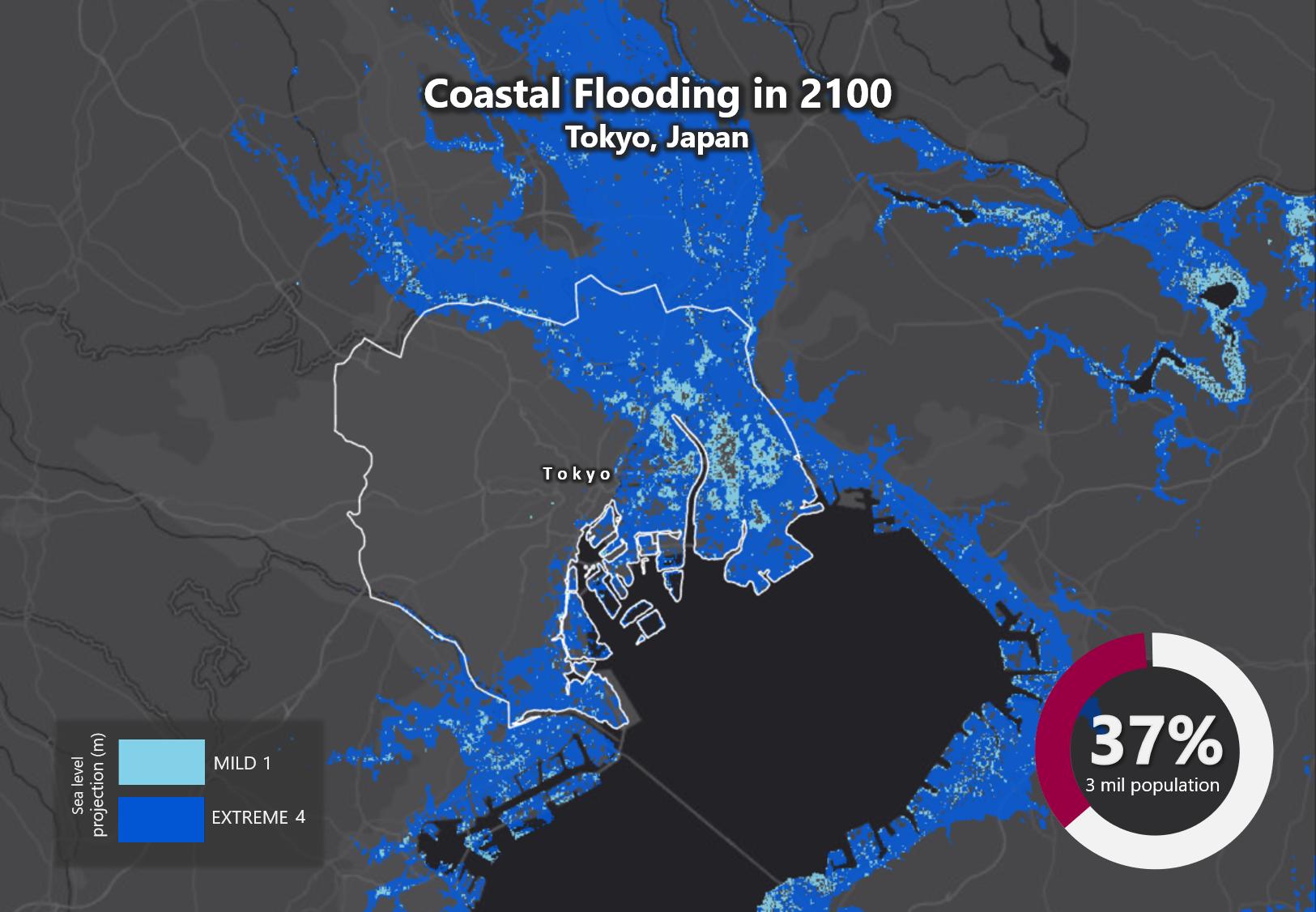 Sea Level Rise 2100 Tokyo