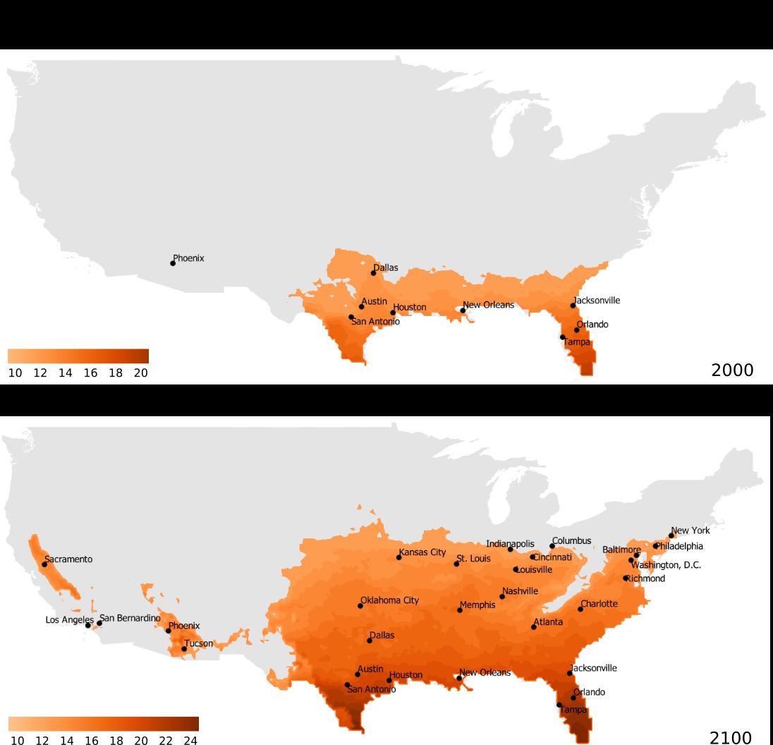 Mosquito Range Increase: USA