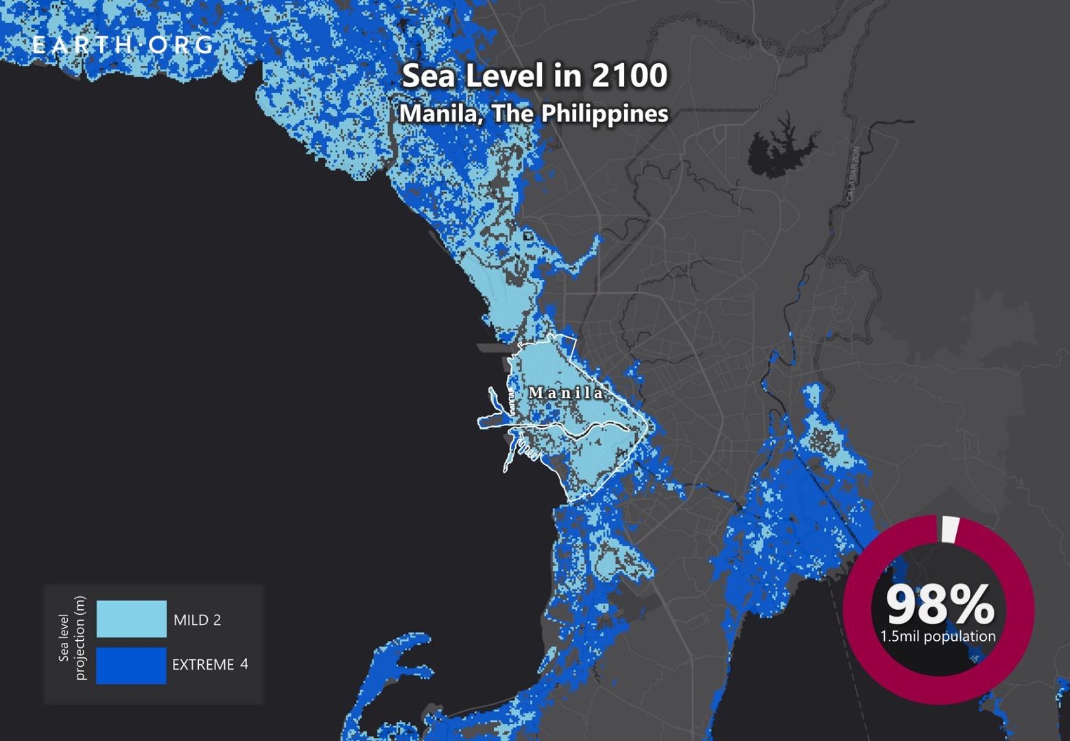sea level rise by 2100 manila