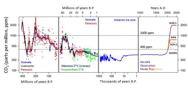 Historic CO2 levels