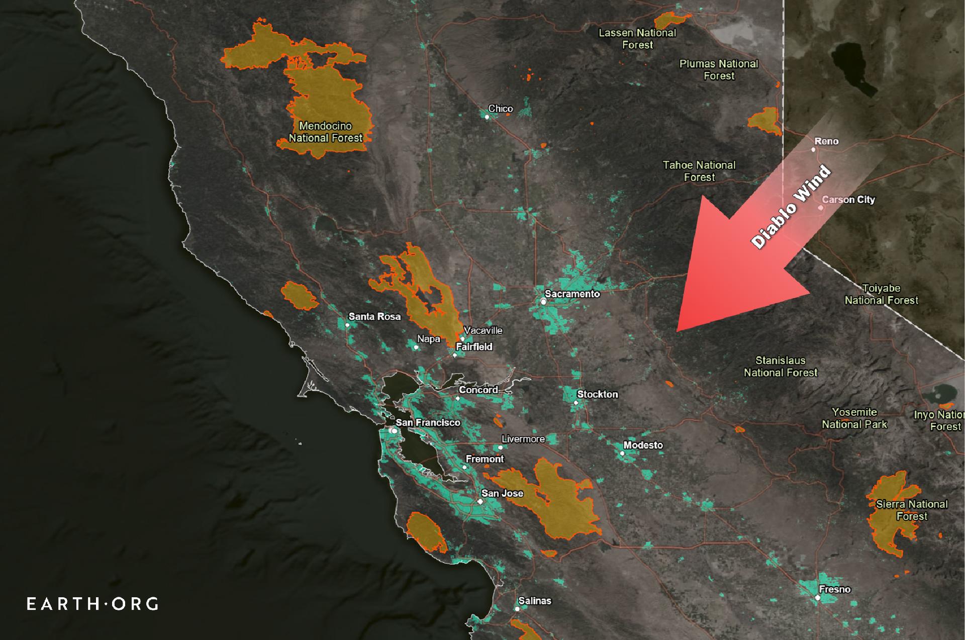 diablo wind california wildfires