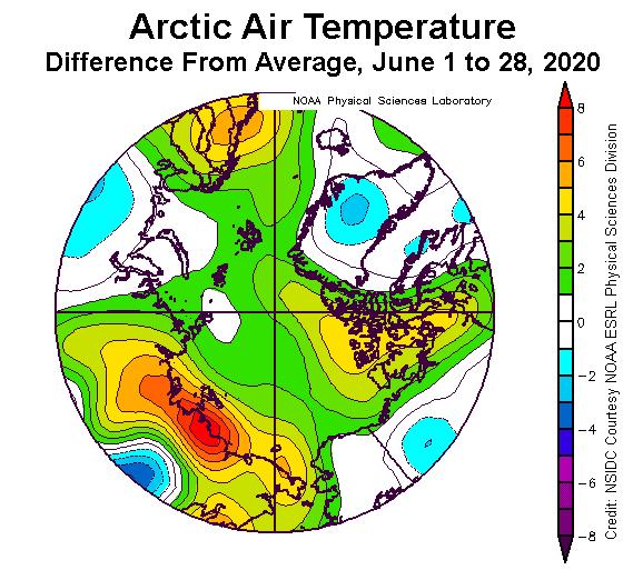 arctic air temperature anomalies 2020