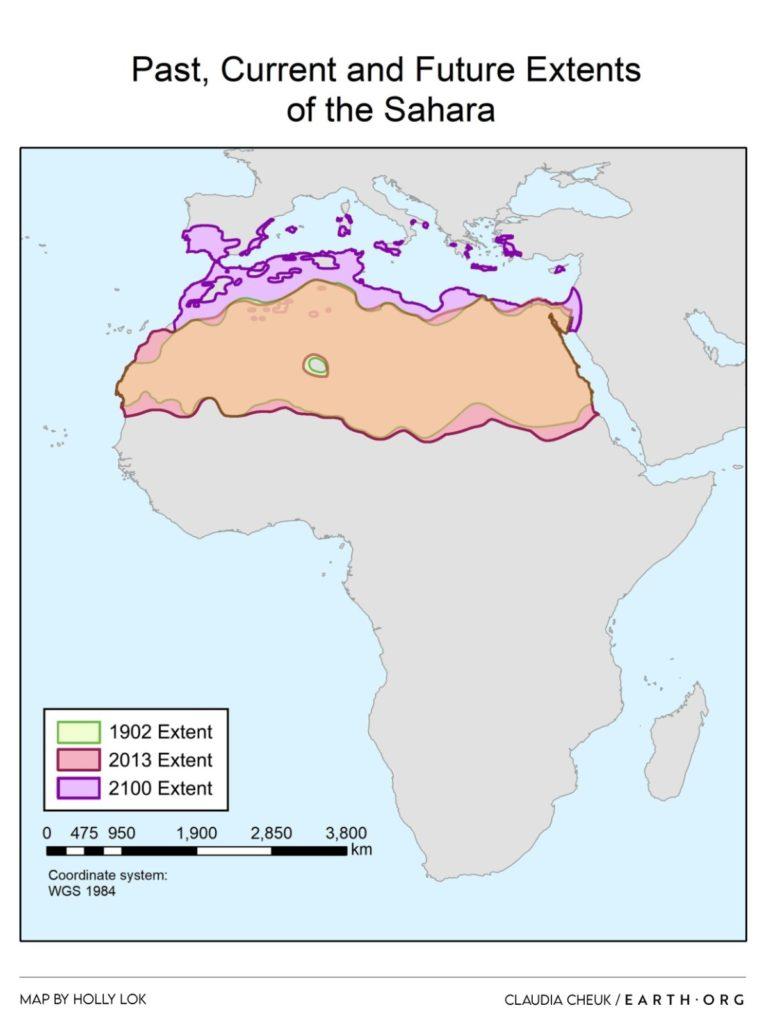 sahara past present future map