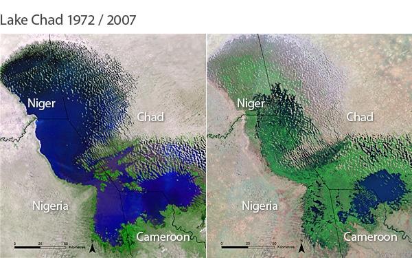 Lake Chad Sahel Sahara expansion